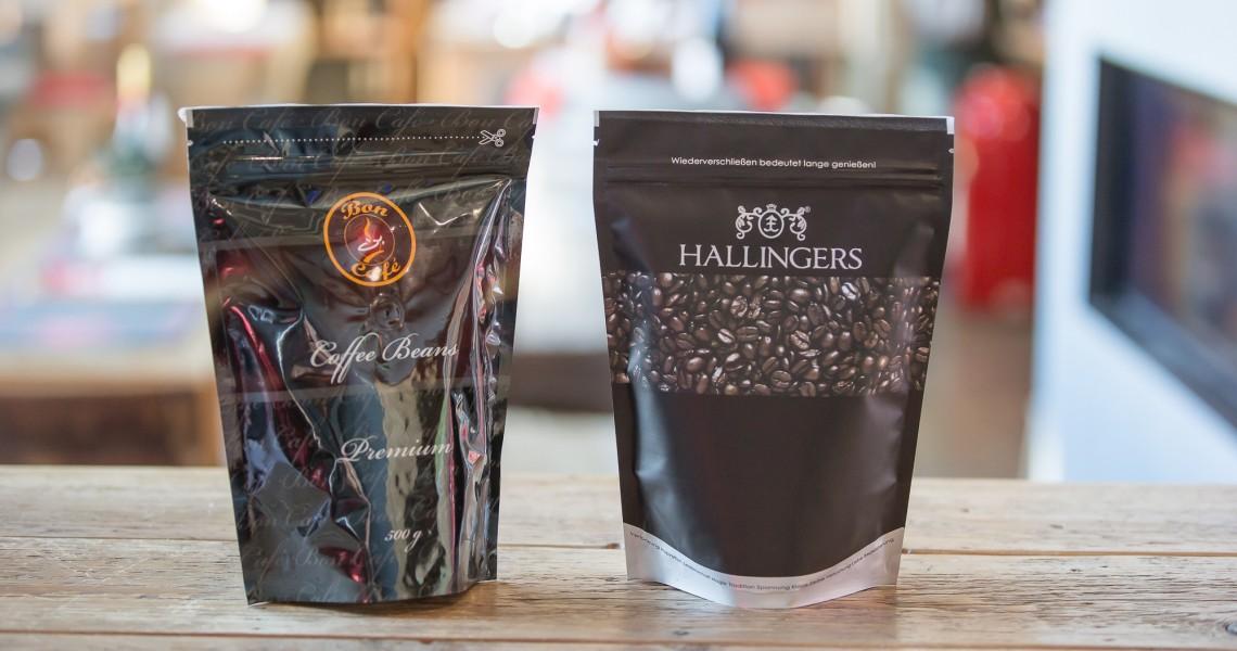 schwarze Verpackung aus der Kaffeemanufaktur